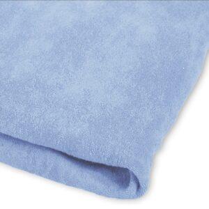 Badstof Hoeslaken Massagetafel Lichtblauw met uitsparing ZENGROWTH